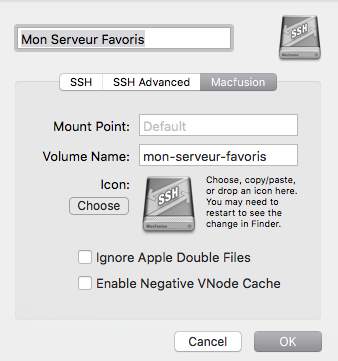Connecter un volume SSH sous OS X El Capitan | Marc Pearson
